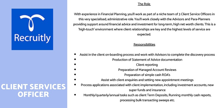 Recruitly CLIENT SERVICES OFFICER