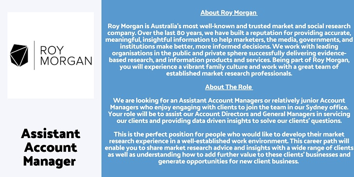 Roy Morgan Assistant Account Manager