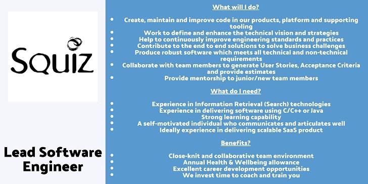 Squiz Lead Software Engineer