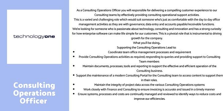 TechnologyOne Consulting Operations Officer