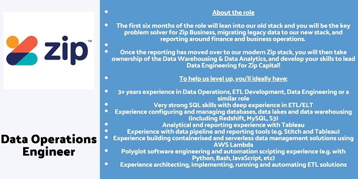Zip Co Data Operations Engineer