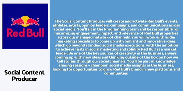 Red BullSocial Content Producer